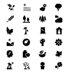Nature Icons 7 vector image