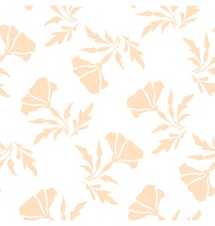 Pale floral pattern vector image vector image