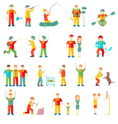 People in different situations friends vector image vector image
