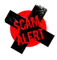 Scam alert rubber stamp vector