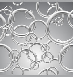 Seamless background of metal rings vector
