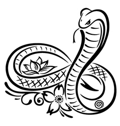 Snake cobra vector