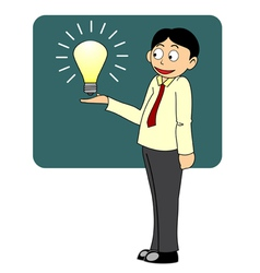 Think big business man presenting big idea vector image vector image