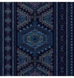 Vertical ornamental seamless pattern Dark ethnic vector image