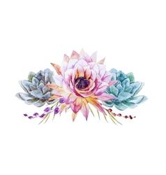 Watercolor lotus vector