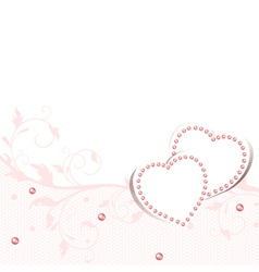 Wedding love frame vector image