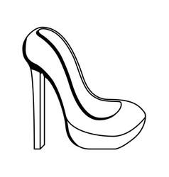 Woman heel isolated icon vector