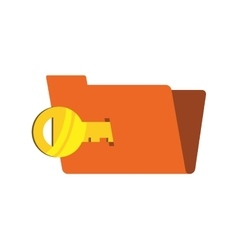 Key file security system protection icon vector