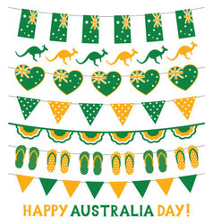 Banner decoration in national colors of australia vector
