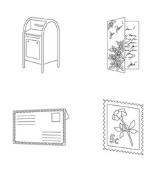 Mailbox congratulatory card postage stamp vector