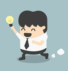 Young business run show idea vector