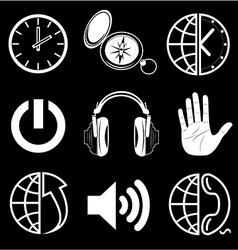 icons of media vector image