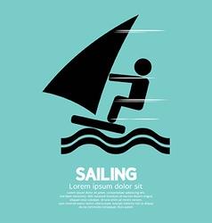 Sailing Sport Symbol vector image