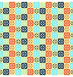Seamless abstract pattern with flowers vector