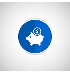 Piggy icon bank economy coin money piggy savings vector