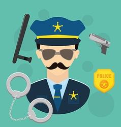 Police design vector image