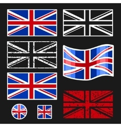 British flag set vector