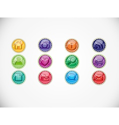 Set with buttons vector