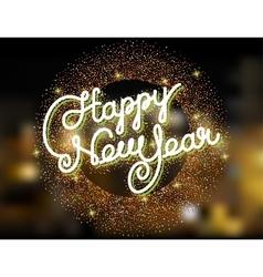Happy new year invitation vector