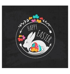Easter greeting card design element vector