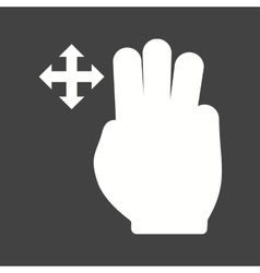 Three fingers move vector
