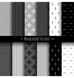 Monochrome patterns set vector