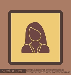 A female avatar girl Avatar of a woman with long vector image