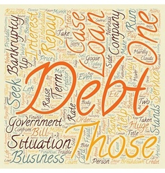 Bankruptcy 101 text background wordcloud concept vector