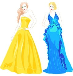 beautiful young girls vector image