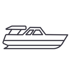boat launchyacht line icon sign vector image vector image