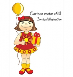 cartoon child vector image