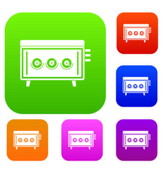 cd changer set color collection vector image vector image