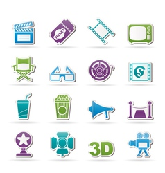 Cinema and Movie icon vector image vector image