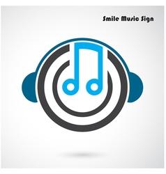 Creative abstract musical design logo desig vector image