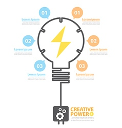 Creative power vector image