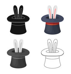 Ears of a hare in a hat fociparty and parties vector