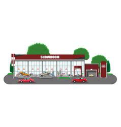 Exhibition pavilion car dealership vector