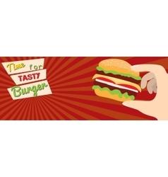 Fast food flat advert banner vector