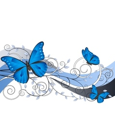 Floral with butterflies vector