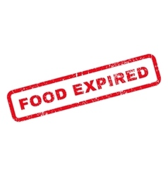 Food Expired Text Rubber Stamp vector image vector image