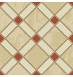 geometric seamless pattern diamond tiles on grunge vector image vector image
