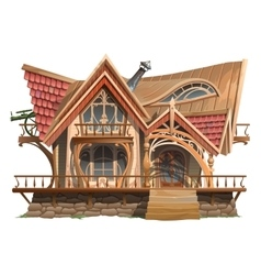House of boss vintage building with ornament vector