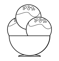 Ice cream in cup icon outline style vector image