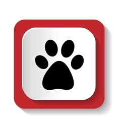 Icon with the image of an animal paw vector