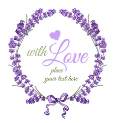 Lavender wreath vector image vector image
