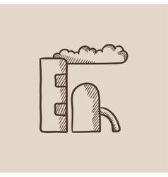 Refinery plant sketch icon vector