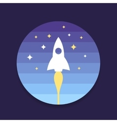 Rocket start up design vector image vector image