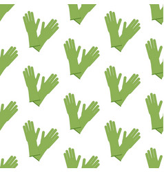 rubber gloves pattern vector image vector image