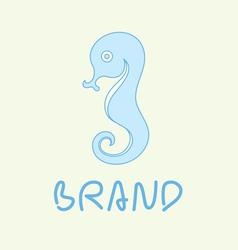 Sea horse logo vector
