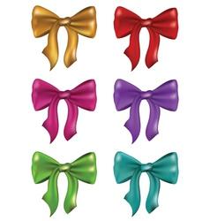Silk Bows Set vector image